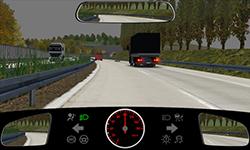 Sie fahren auf einer zweispurigen Autobahn mit 100 km/h.