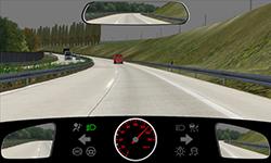 Sie fahren auf einer zweispurigen Autobahn mit 130 km/h.