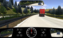 Sie fahren auf einer Autobahn mit etwa 95 km/h.